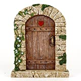 Top Collection 7″ Miniature Fairy Garden & Terrarium Charming Cobblestone Door Decor, Small For Sale