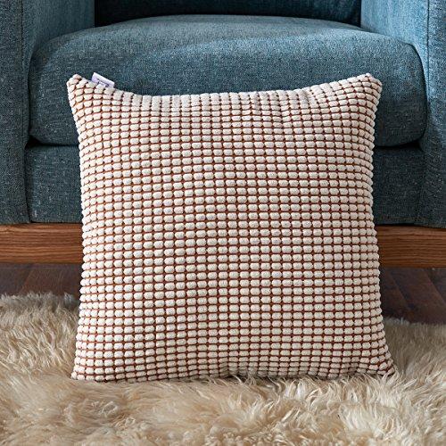 Smiry Striped Corduroy Cushion Decorative