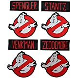 Lot of 8 Ghostbusters Movie Costume Embroidered Iron On Sew On Patch by Miltacusa
