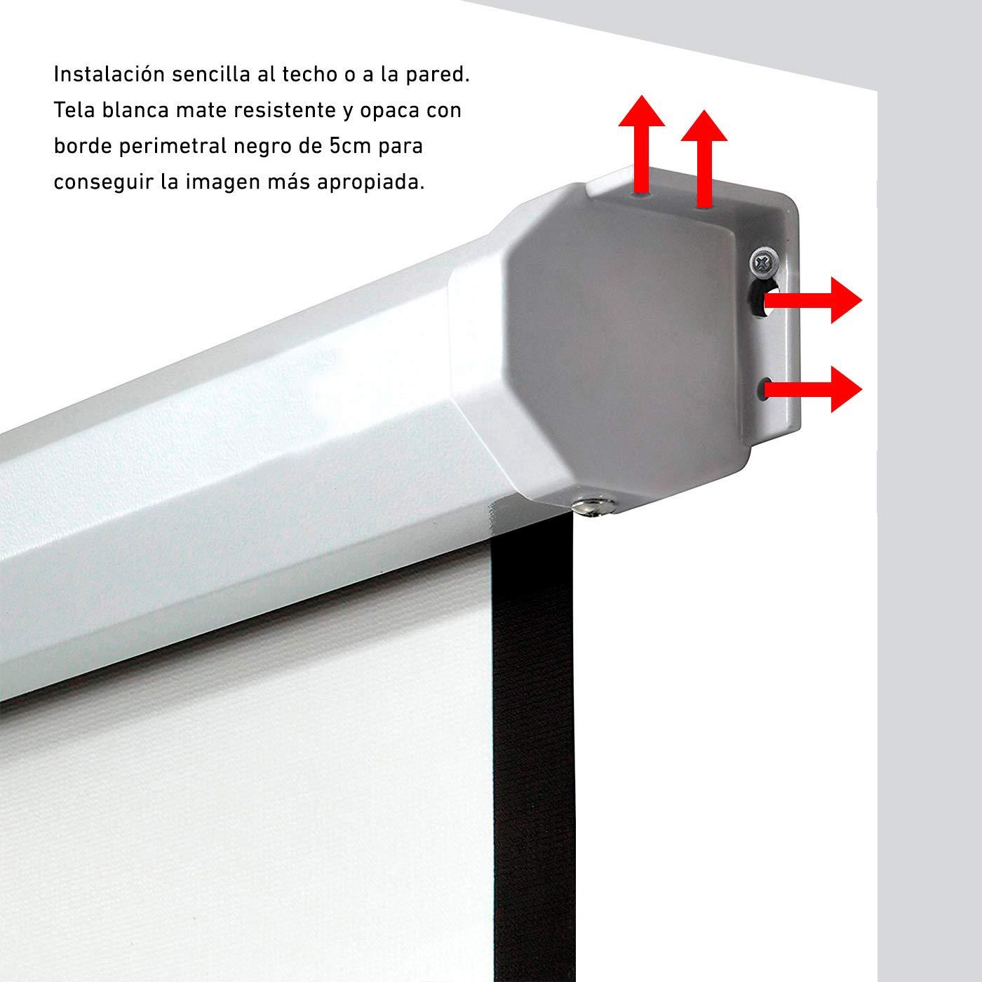 Phoenix Technologies Pantalla proyector electricas (3.5 x 3.5m)