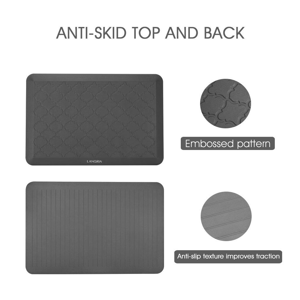 LANGRIA Anti-Ermüdungs Schreibtisch Matte Bodenmatt Komfort Anti-Rutsch