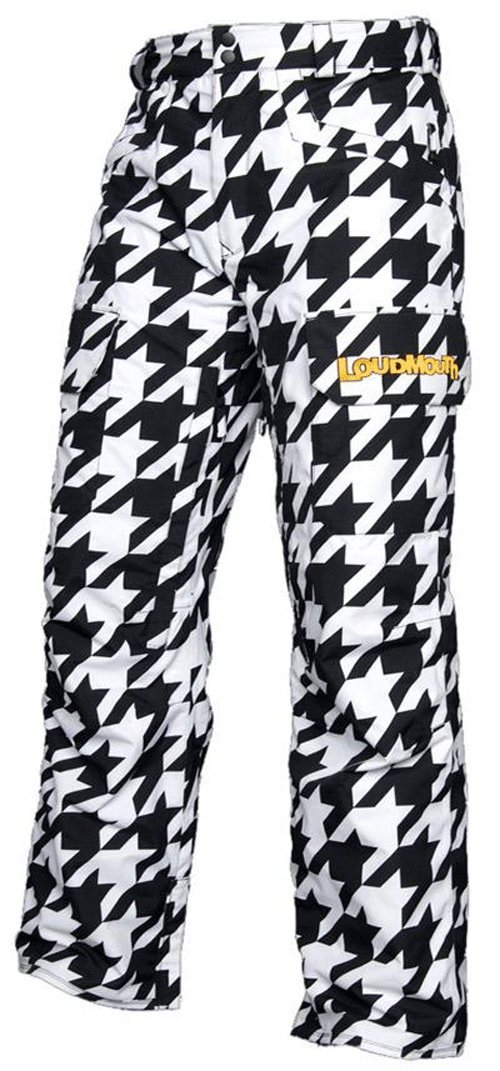 Loudmouth Snow Ski/Snowboard Pants - Oakmont Houndstooth Size Large