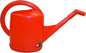 Dramm 12471 10-Liter Molded Plastic Swiss Watering Can with Injection, Red