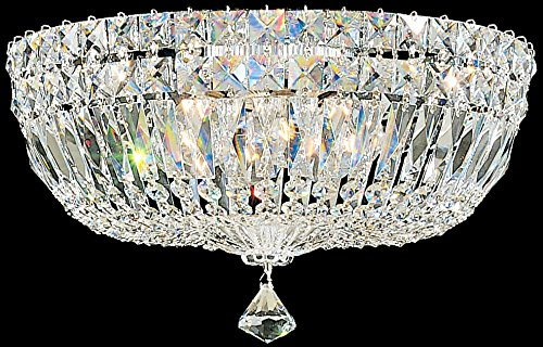 (Schonbek 5893-211A Swarovski Lighting Petit Crystal Deluxe Flush Mount Lighting Fixture, Aurelia)