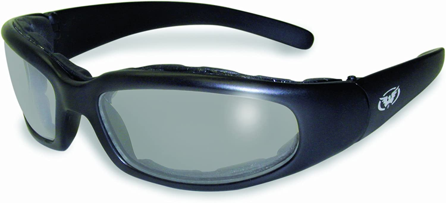 Global Vision Chicago Clear Foam Padded Sun Glasses with Vented EVA Foam