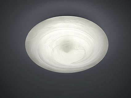Dezente led deckenleuchte in alabaster w v aus glas
