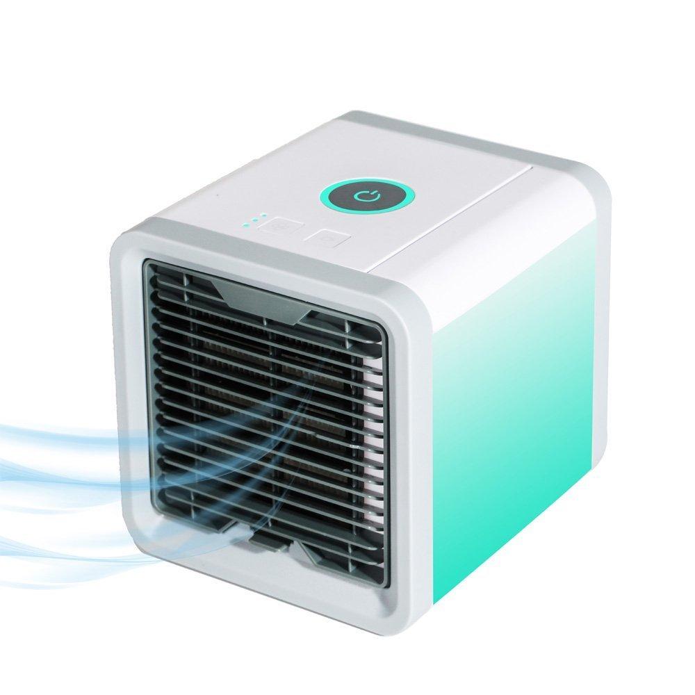 Air Cooler Portable Condizionatore Raffreddatore Daria Evaporativo Mini 3 in 1 with Humidifier Purifier,7 Colori LED per Casa//Ufficio