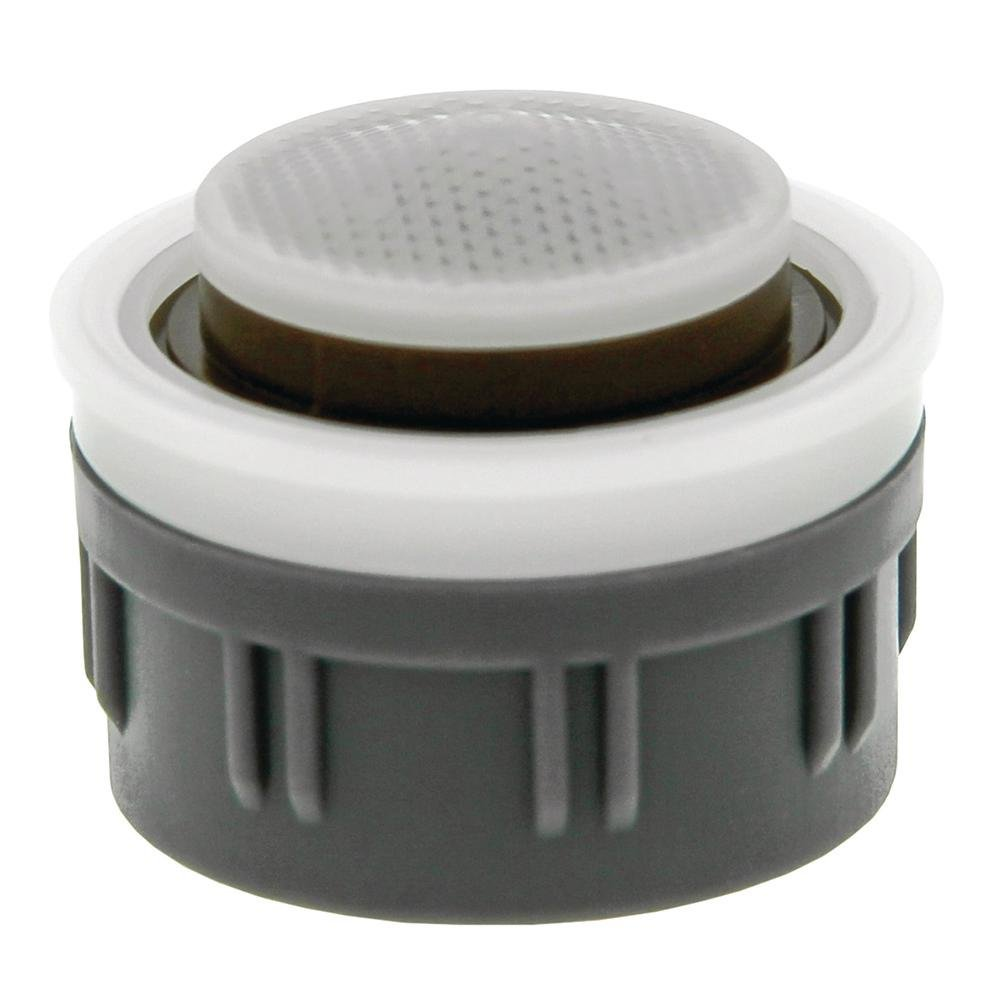 Neoperl 32 3350 3 PCA Mikado Ultimate Low Flow Faucet Aerator Regular Insert, No Washer, 0.35 GPM, Brown/White Dome, Spray Stream (Pack of 6)