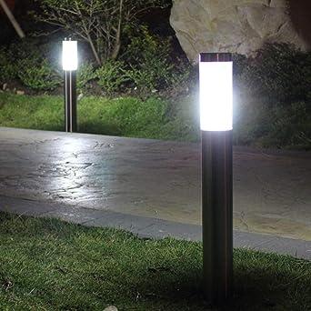 GYBYB Luz de césped LED al aire libre Impermeable Jardín Luz de césped Paisaje Luces Comunidad Jardín Camino Camino Iluminación decorativa @ 45CM: Amazon.es: Iluminación