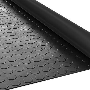 ANRO Gummimatte Schutzmatte Noppenmatte Bodenmatte Breitriefen Gummil/äufer 100cm Breit 3mm stark Schwarz 250 x 100cm