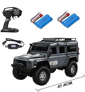MODELTRONIC Coche Crawler Land Rover Defender D90 SUV Escala 1/10 2.4G tracción 4x4 RTR Color Plata con BATERÍA Extra