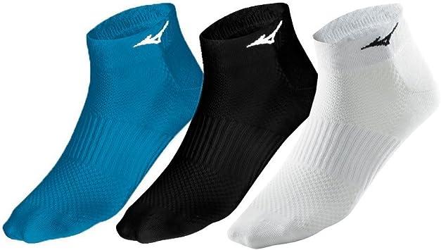 Mizuno Calze Unisex Running Run Sock Triple Pack Azzurro Bianco Nero
