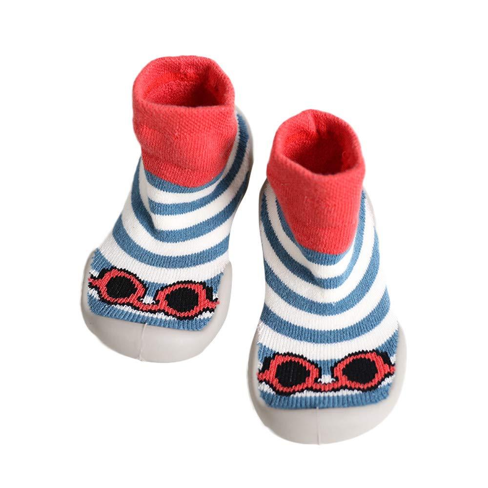 Kids Sock,Zerototens Baby Boy Girl Socks Cotton Children Floor Socks Anti-Slip Baby Step Socks Shoes Rubber Soles Boots Slipper Socks For 0-3 Years Old