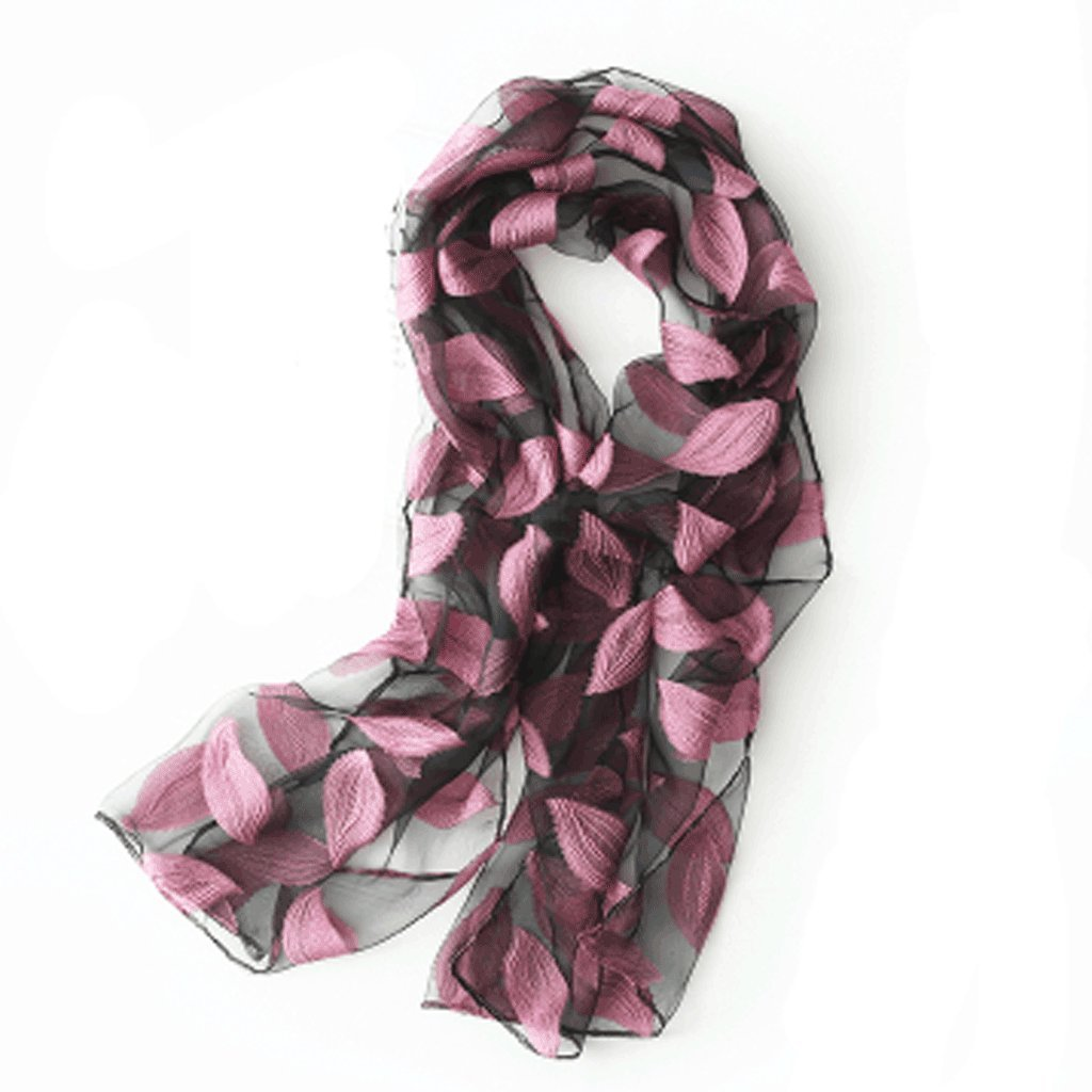 D Softgo Scarf Shawl Lace Embroidered Scarf Wild Sunscreen Multicolor Scarf Optional Daily with Exquisite Lightweight Scarf (color   E)