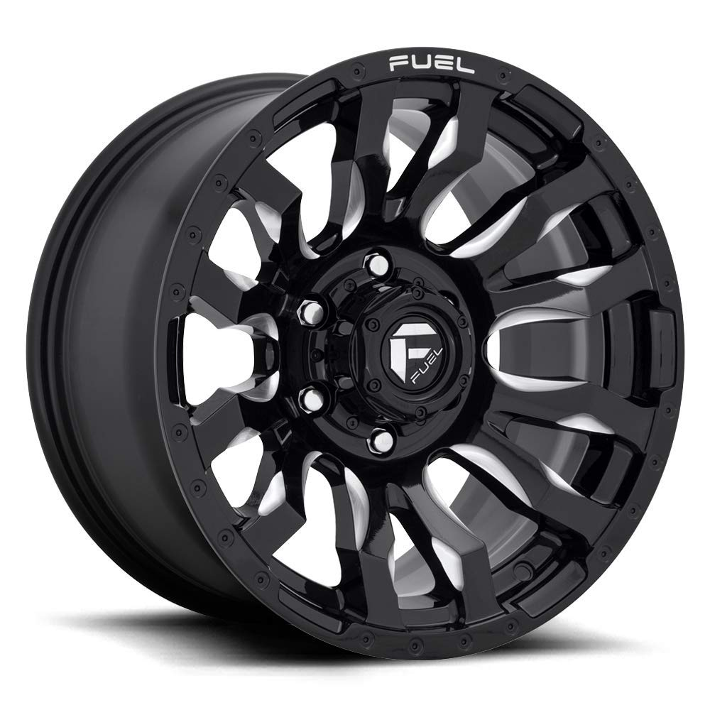 Fuel-D67320001747 Gloss Black//Milled Authorized Dealer 20x10 Fuel Offroad Wheels Blitz 8x170-18 Offset 125.1 Hub