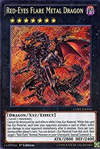 Amazon.com: YU-GI-OH! - Red-Eyes Flare Metal Dragon (CORE