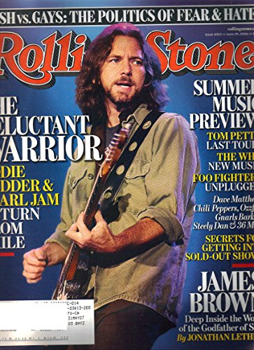 Rolling Stone Magazine Eddie Vedder Pearl Jam June 29, 2006 Issue - Pearl Rolling Jam Stone