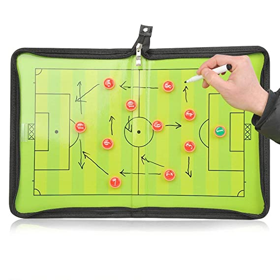 Coaches' & Referees' Gear SANGDA Coaching Board Football,Football/Soccer Coachs Magnetic Board,Foldable Soccer Winning Strategy Board,Erasable Marker Pen and Magnet Buttons