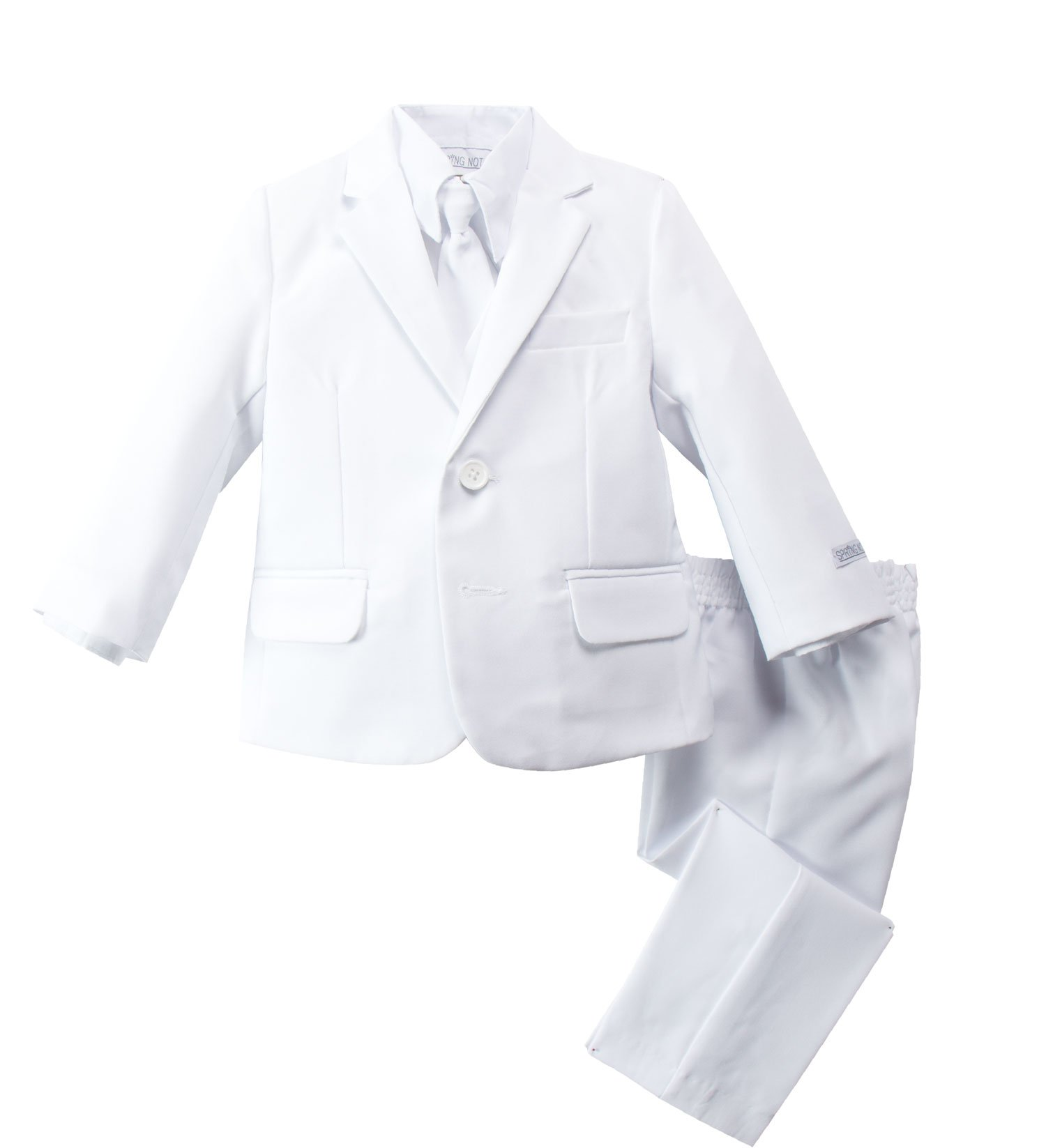 Spring Notion Baby Boys' Modern Fit Dress Suit Set 3T White by Spring Notion