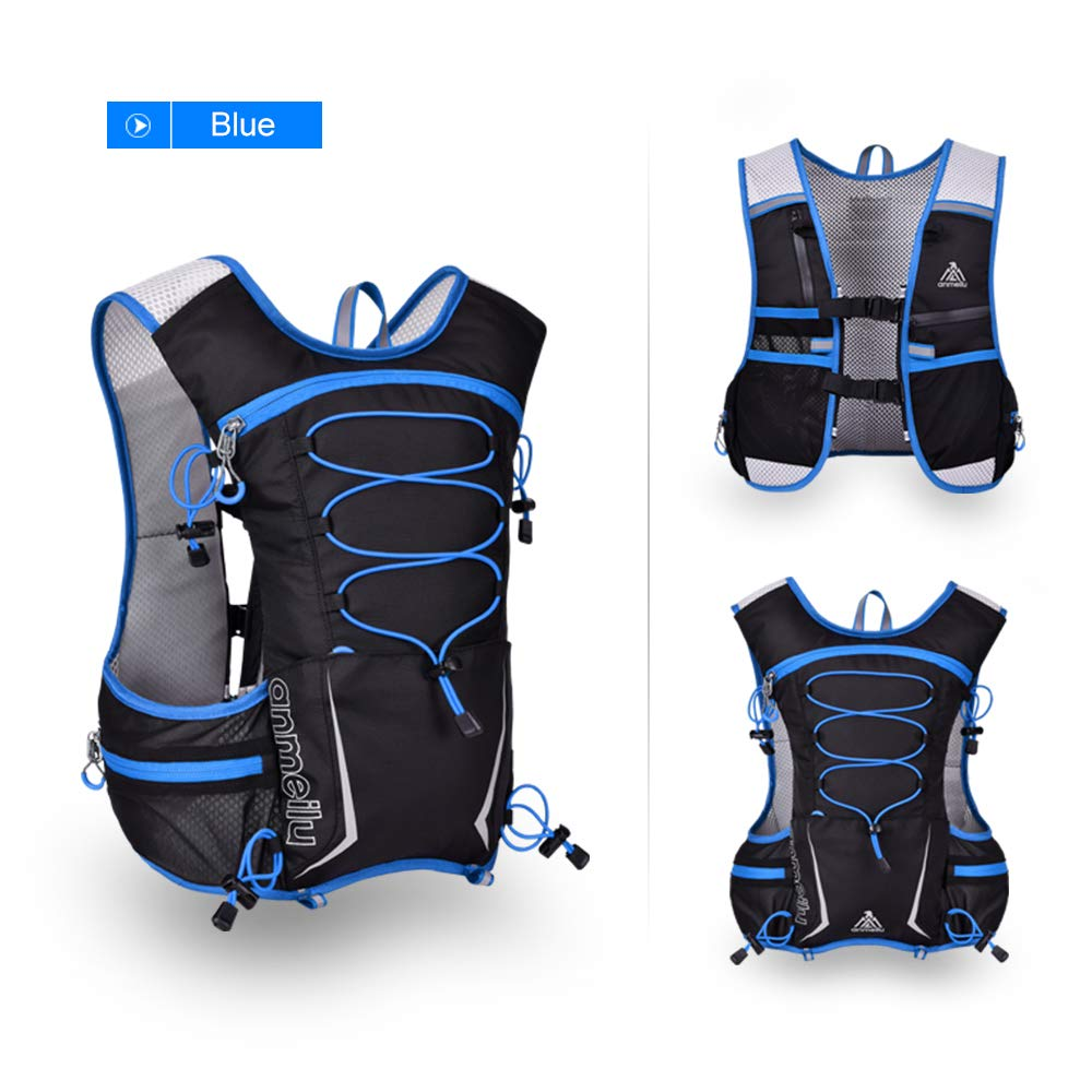 Amazon.com : XUSHSHBA 5L Reflective Running Vest Hydration Running Backpack Outdoor Bag Marathon Jogging Hiking Cycling Backpack Vest Pack Black Color ...