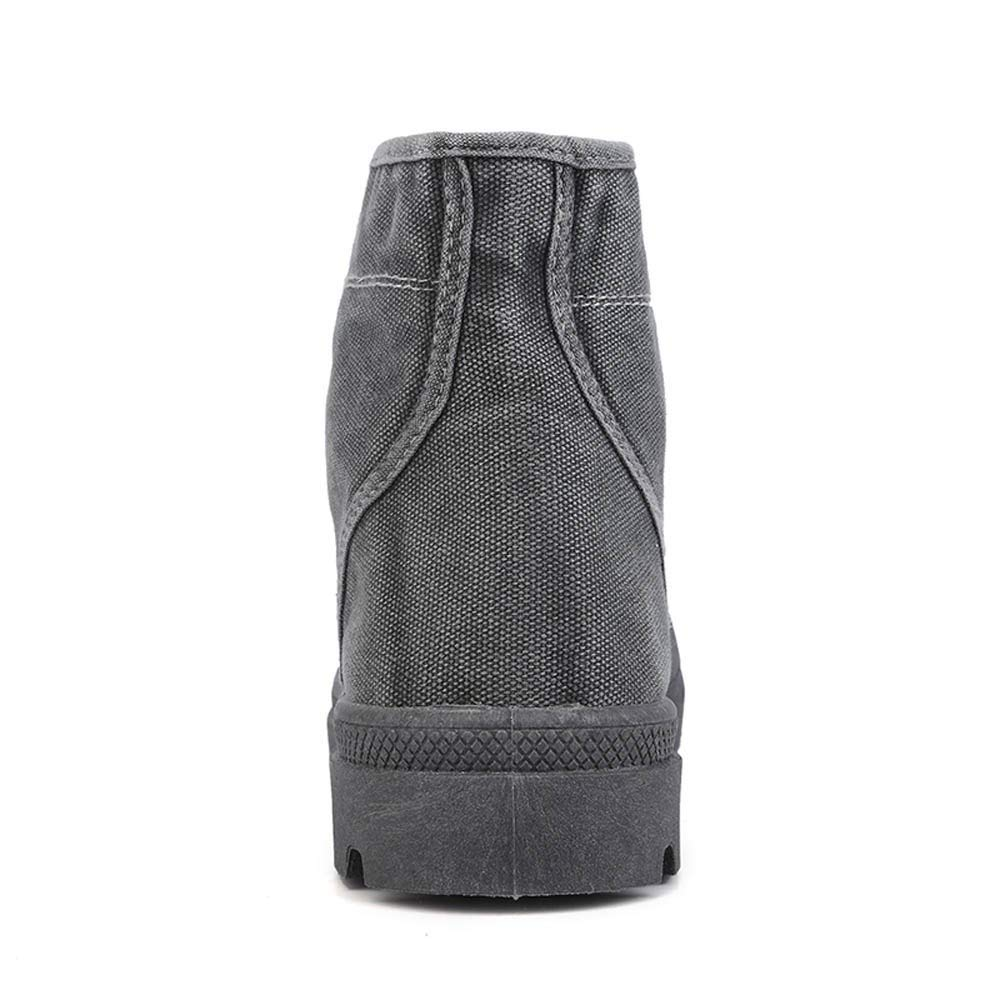 Hommes Cheville Bottes Bottines Classiques Toile Chaussures Villes QinMM Mode Hauts Basses Confortable /Épais Bas D/écontract/ée Desert Plain Toe Boot Style Militaire Lacets 39-43