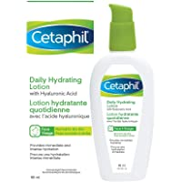 Cetaphil Daily Hydrating Lotion with Hyaluronic Acid - 24Hr Hydration - Fragrance-Free, Paraben-Free - For Dry and…