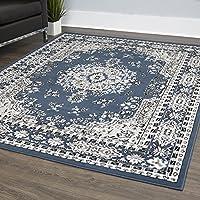 Home Dynamix PremiumOz-2ftx3ft-7069-306 Lyndhurst Asiana Area Rug, 21x35, Medallion Midnight Blue