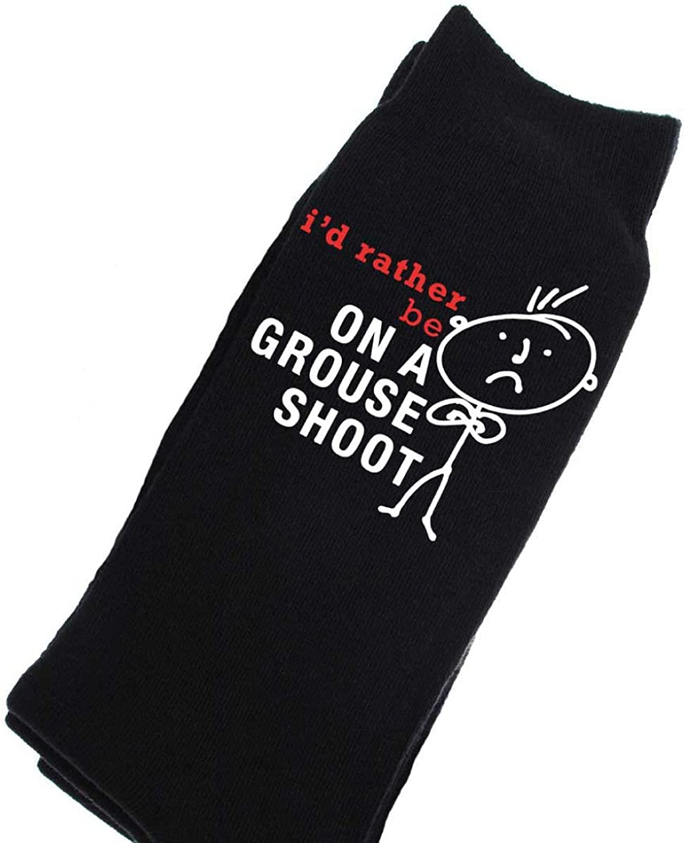 60 Second Makeover Limited Mens Id Rather Be On A Grouse Shoot Calf Socks One Size Black