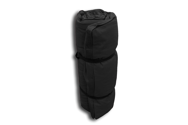 Futon Portable Noir - 200x80x3 cm
