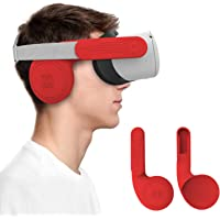 AMVR Silicone Ear Muffs for Oculus Quest 2 VR Headset to Enhanced Headset Sound, Quest 2 Accessories Headphone Extension…