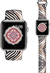 LAACO Silicone Sport Bands Compatible with Apple Watch 40mm for Women, Floral Sport Band, Animal Stripes Fadeless Pattern Printed Replacement Strap Bands Compatible with iWatch 38mm Series 5 4 3 2 1