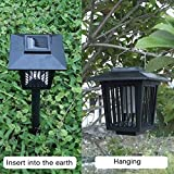 Solar Bug Zapper, HQOON Outdoor Insect / Mosquito/ Flying Killer Light, Also Solar Garden Pathway Lights, Hang or Stake in the Ground