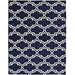 Garland Rug Silhouette Area Rug, 8 by 10-Inch, Indigo/Ivory
