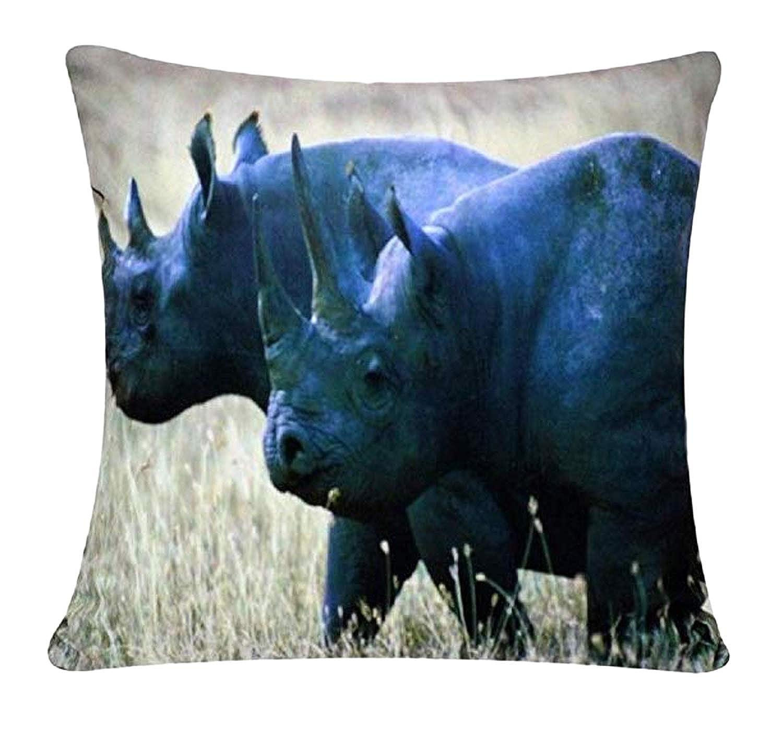 Rinocerontes Animal Print Chenille Cotton 17 x 17 pulgadas ...