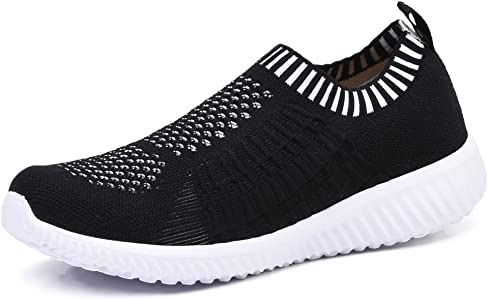4f8e6d000806 TIOSEBON Women s Athletic Walking Shoes Casual Mesh-Comfortable Work  Sneakers 5 US Black