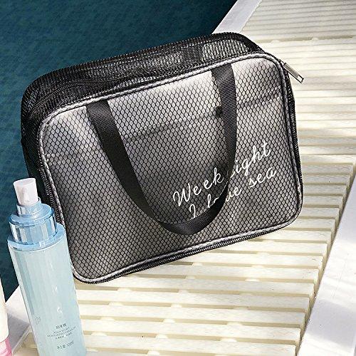 LULANDer Strand Paket schwimmen Kulturbeutel Kosmetiktasche transparent Paket Männer und Frauen baden Wellness Badeanzug Zulassung Paket fitness Paket groß, 34 * 20 * 11 cm, pink (Groß)