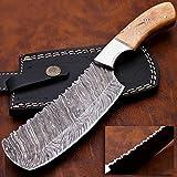 """Custom Damascus Steel Cleaver Knife 9.5"""""""