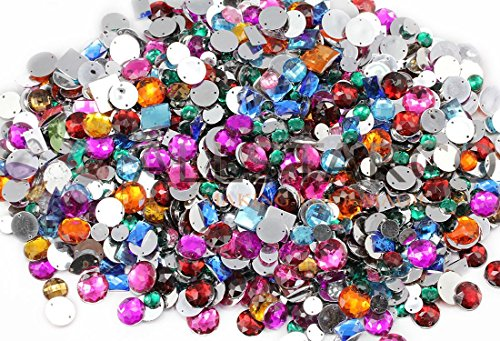 Assorted Crafting Sew On Gems Pack Over 700 Pieces by Allstarco