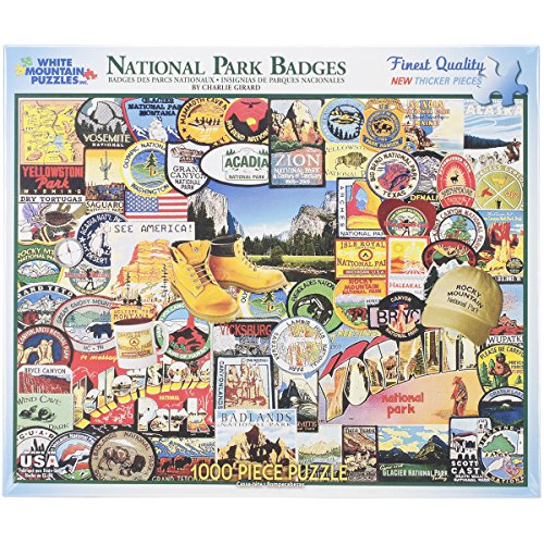 National Park Badges - 1000 Piece Jigsaw Puzzle