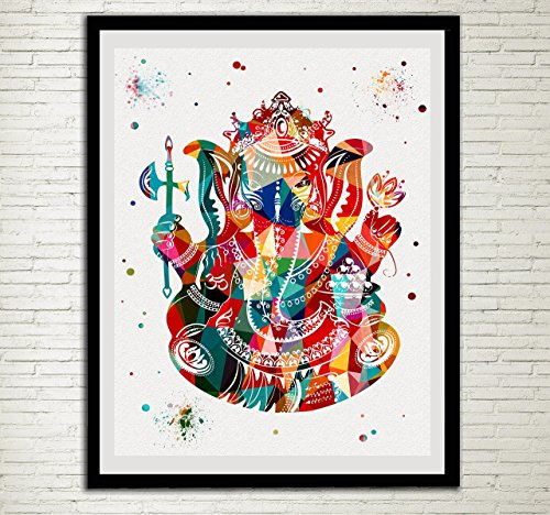 Ganesha Ganesh Lord Ganesha Watercolor Print Modern Home Decor Wedding Gift Buddha Yoga Wall Decor Wall Hanging (Best Color Printer For Business In India)