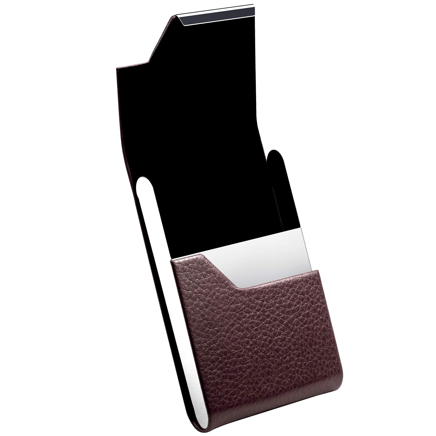 V-Rose red Credit Card Holder Padike Professional Business Card Holder Business Card Case Luxury PU Leather /& Stainless Steel Card Holder Keep Business Cards in Immaculate Condition.