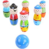 Bigjigs Toys Wooden Pirate Skittles - Tabletop Games