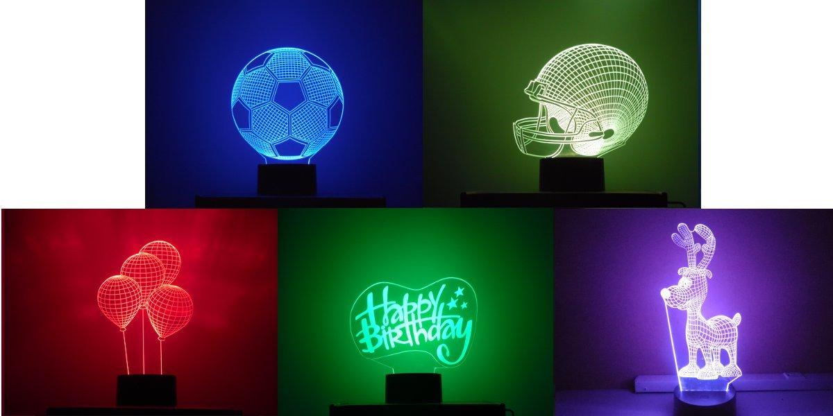 Mansa照明、「パーティー」テーマ5プレート3d LED Optical Illusion投影ノベルティライトギフトパック B076P35JSC 16683
