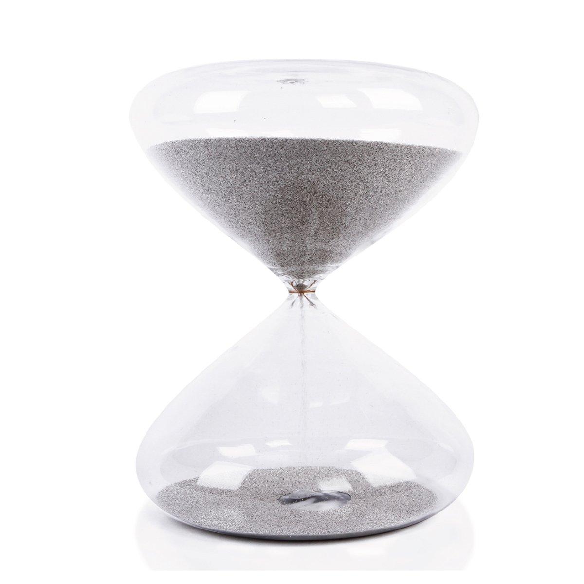 (アイクポッド)Ikepod  高さ約14センチメートルの砂時計サンドタイマー 25分計 ステンレス製ナノボール B01DVB0BZIステンレス H-14cmT-25Min(誤差:約±6秒/分)