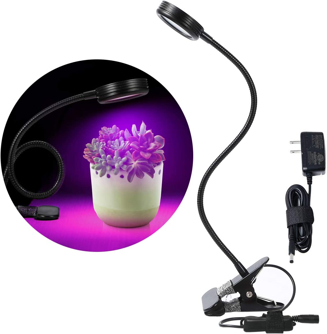 LED Gooseneck Grow Light Clip On Plant Lamp