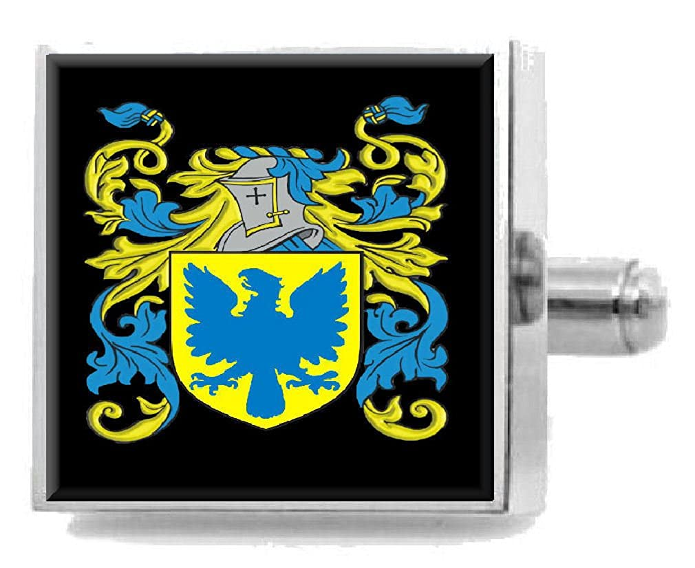 Select Gifts Buckmaster England Family Crest Surname Coat Of Arms Cufflinks Personalised Case