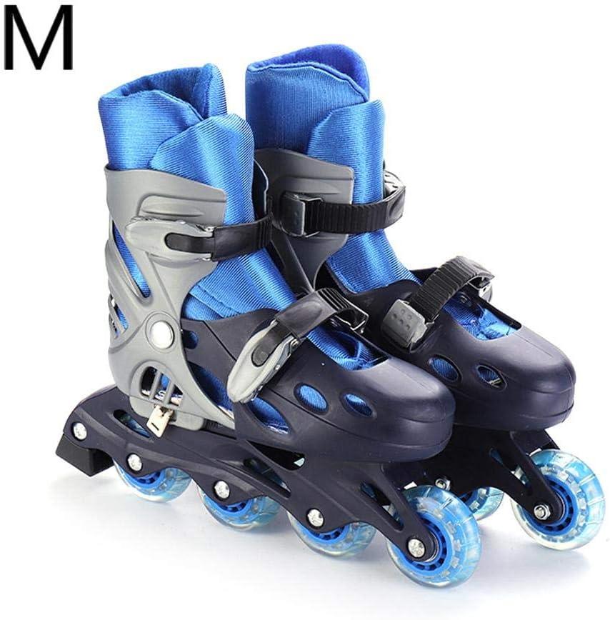 transferable wawoo Kids Inline Skate,Adjustable Wheels Beginner Skates for Beginner Adults Boys Girls Red,Blue,Pink,S,M,L