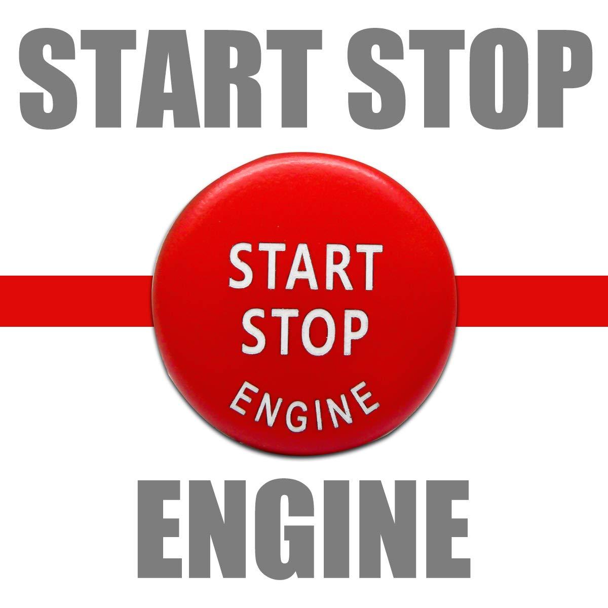 MASO Motore Auto Start Stop Pulsante Interruttore di ricambi Auto per BMW 1//2//3//5//7/X1//3//4//5//6/ Rosso