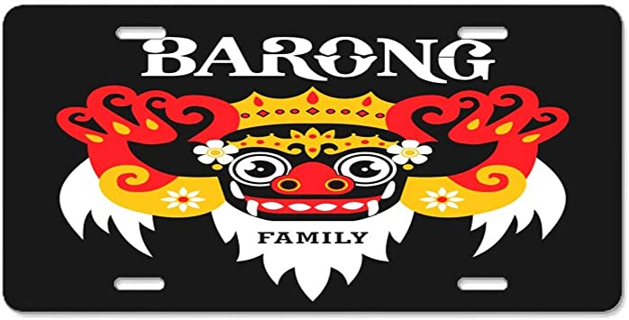 yex abstract barong family yellow claw license plate frame car licence plate covers auto tag holder 6 x 12 frames amazon canada amazon ca