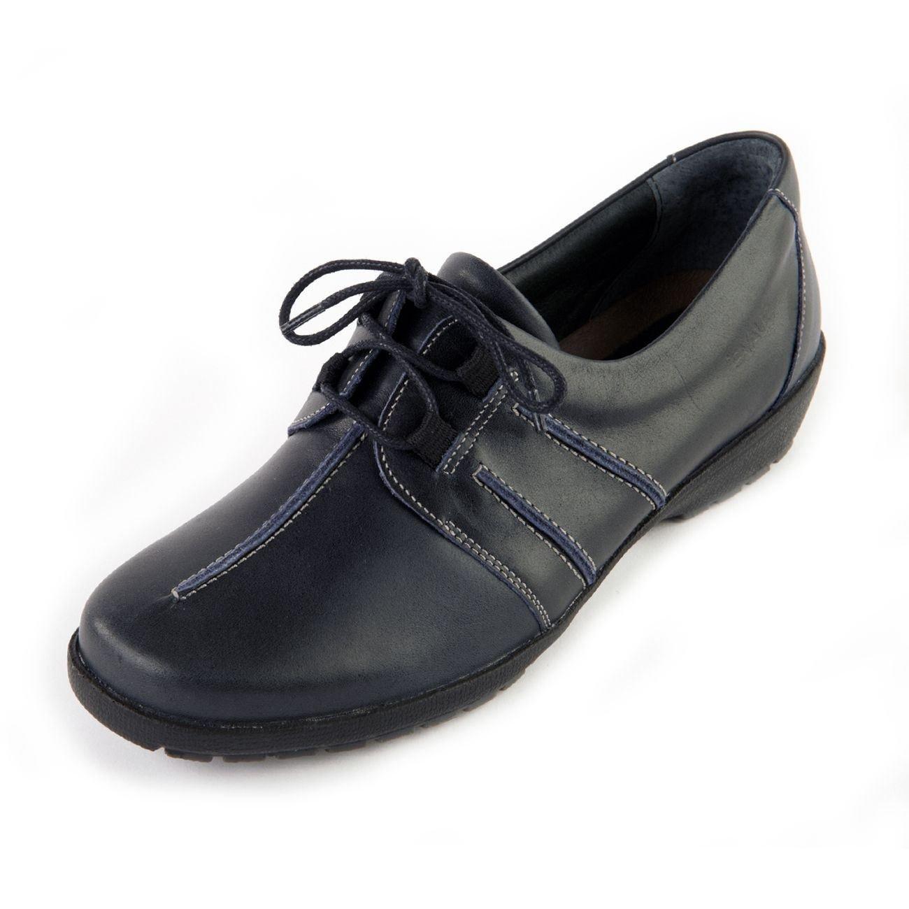 Suave - Zapatos de cordones de Otra Piel para mujer 39 EU |azul marino